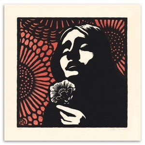 Image of Eurydice - Hadestown album cover - A limited edition woodcut print.