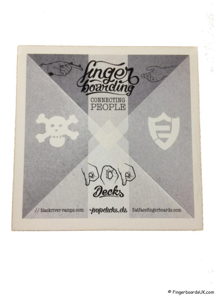Image of Pop Decks x Blackriver x Flatface Sticker