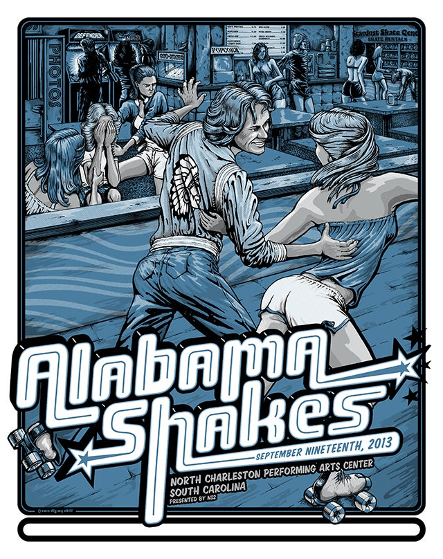 Image of Alabama Shakes SC 2013-VARIANT Metallic Colors