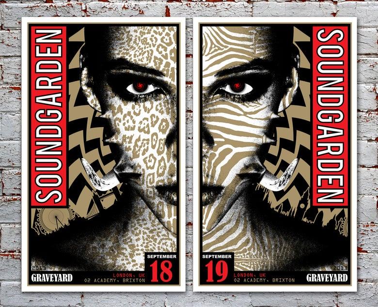 Image of SOLD OUT - Soundgarden & Graveyard London Silkscreen Poster Main Edition