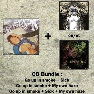 Image of Anorak CD Bundle - Go up in smoke + Sick / My Own Haze (Pre-order)