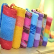 Image of CUSTOM ORDER: felted water bottle carrier with SHORT STRAP
