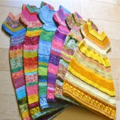 Image of CUSTOM ORDER: handknit bloom dress/tunic
