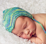 Image of CUSTOM ORDER: newborn silk pilot cap in TROPICAL BLUE