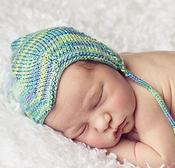 Image of CUSTOM ORDER: newborn silk pilot cap in TROPICAL BLUE