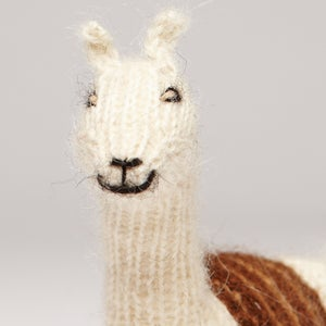 Image of Puppet animal Alpaca white