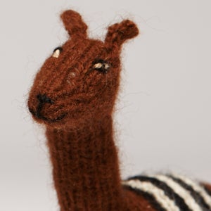 Image of Puppet animal Alpaca brown