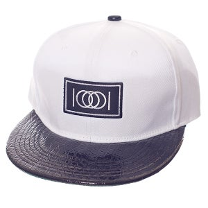 Image of The Gator Brim Snapback - White Body