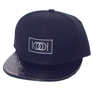 Image of The Gator Brim Snapback - Black Body