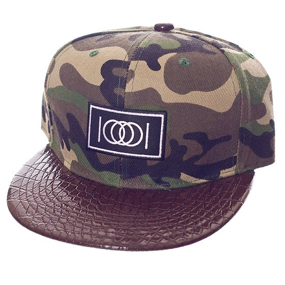Image of The Camo Gator Snapback - Brown Brim