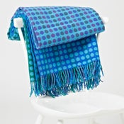 Image of Blue 'Popper Trio' throw/blanket