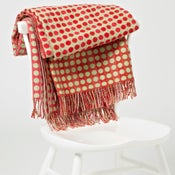 Image of Red 'Popper Trio' throw/blanket