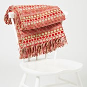 Image of Red 'Popper Stripe' throw/blanket