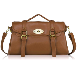 Image of Tan Faux Leather Satchel