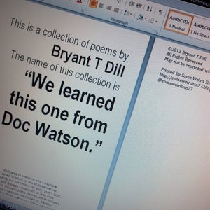 "Image of ""We learned this one from Doc Watson"""