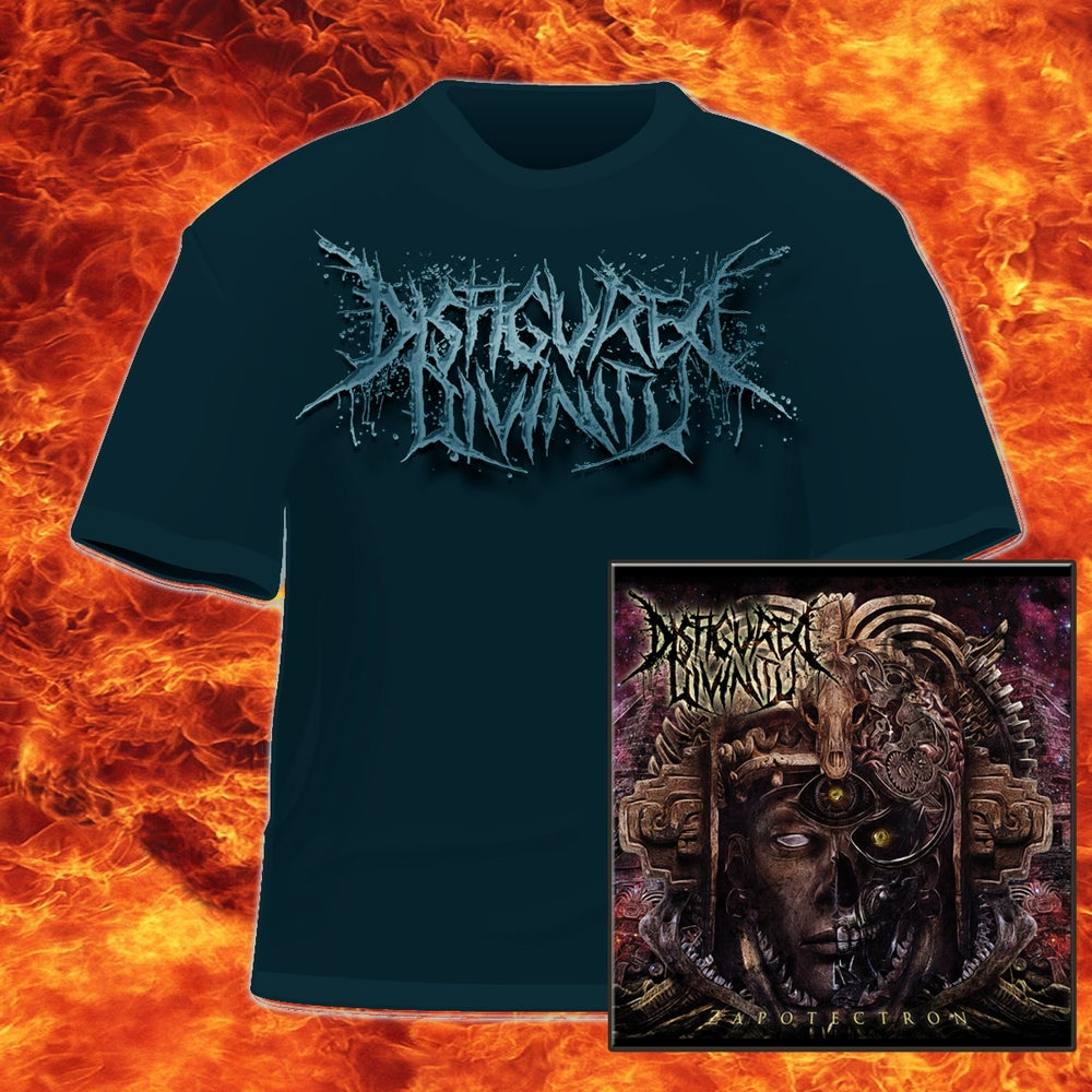 Image of DISFIGURED DIVINITY - ZAPOTECTRON-CD&LOGO-T-SHIRT PACKAGE