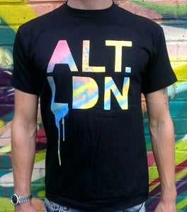 Image of ALT.LDN T-Shirt Blue on Black Repeat