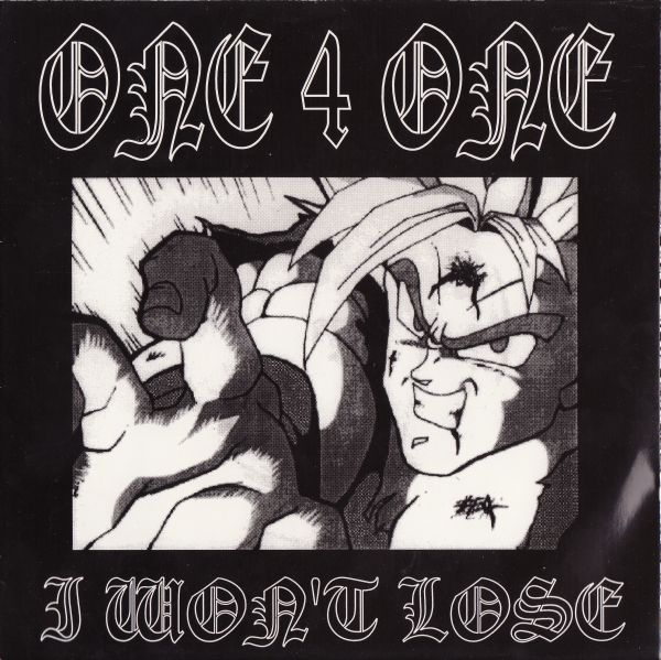 "Image of ONE 4 ONE ""I wont lose"" 7"" Old school New Jersey Hardcore"