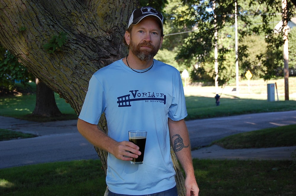 Image of Vorlauf Men's T-Shirt-Light Blue