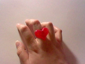 Image of Glitter Heart Ring (Red)