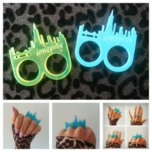Image of San Francisco -'Potrero Hill' Skyline View Double Finger Ring