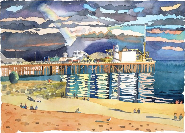 Image of Brighton Pier with Rainbow