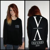 Image of 'Excuses' Longsleeve Tee [Black]