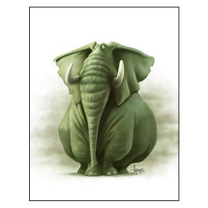 """Image of """"Smitty the Smoggy"""" Elephant Print"""