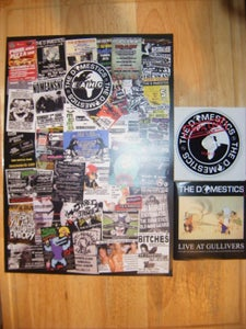 Image of THE DOMESTICS (U.K.) ' LIVE AT GULLIVERS' CD (with wraparound poster sleeve)