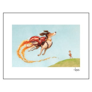 "Image of ""'Walking' the Dog"" Print"