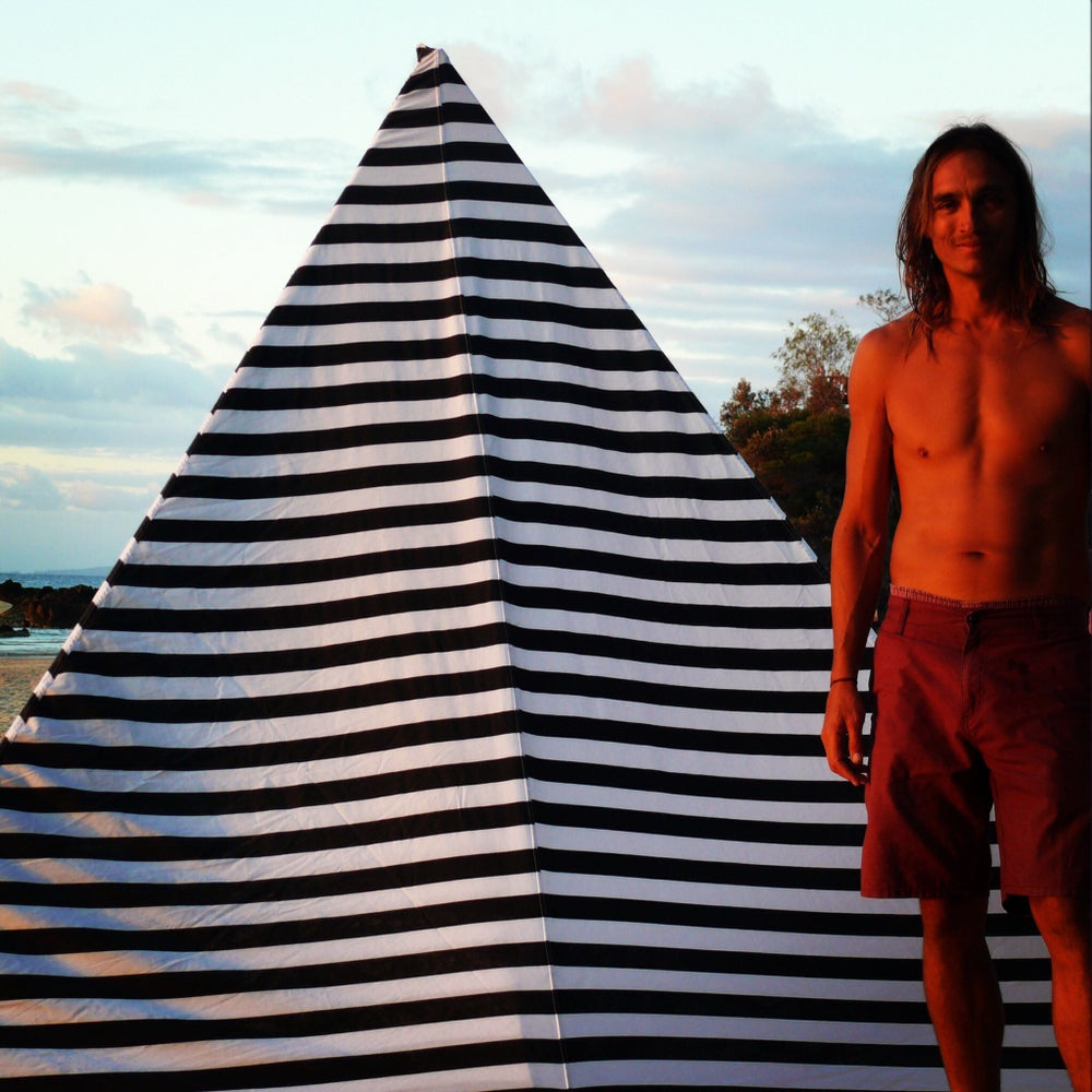 Image of BLACK STRIPE BEACHTIPI (Small)