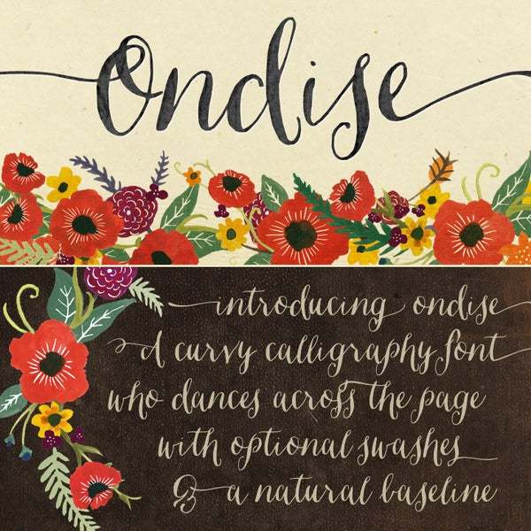 Ondise Font - Magpie Paper Works
