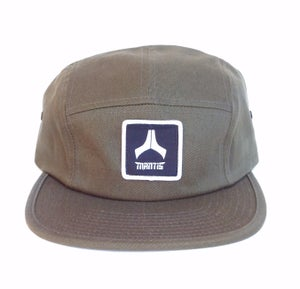 Image of Olive 5 panel snapback hat