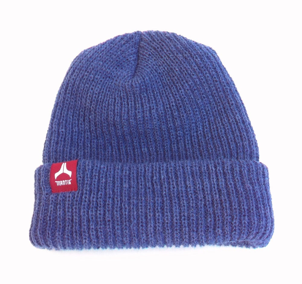 Image of ON SALE - Beanie - Salary Cap / Denim & Burgandy Color