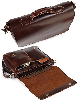"Image of Handmade Genuine Leather Briefcase / Messenger / 13"" 15"" MacBook 13"" 14"" 15"" Laptop Bag (n78)"