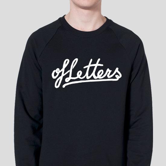 Image of ofLetters Script Black Crewneck Sweatshirt