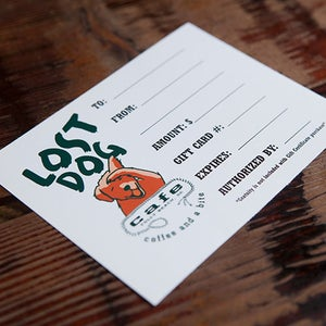 Image of Lost Dog Cafe Gift Certificate
