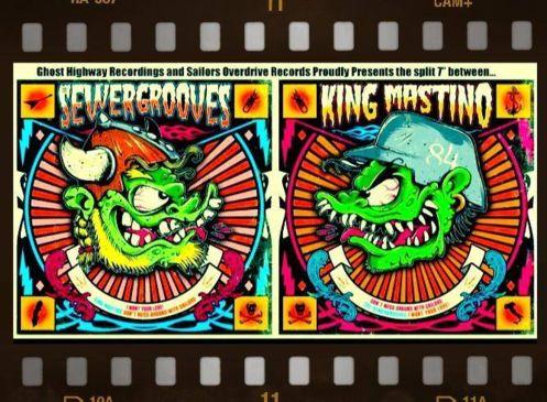 "Image of 7"" split - The Sewergrooves / King Mastino"