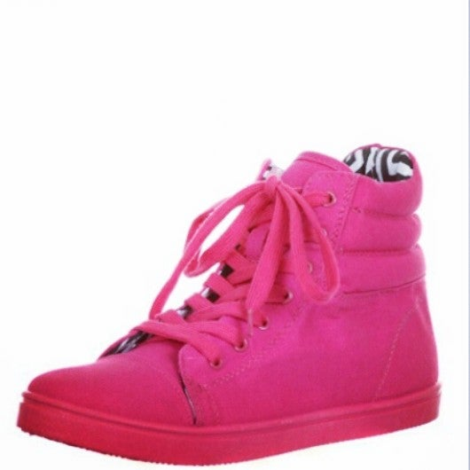 Image of Hot Pink High Top Sneakers