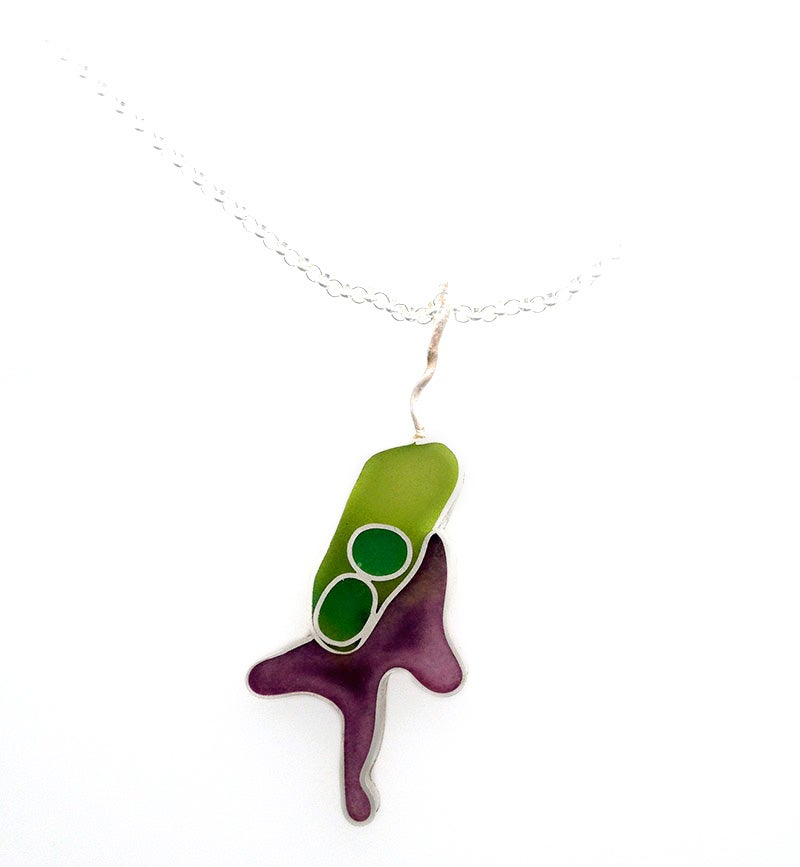 Image of Resinate Sweet Pea Necklace
