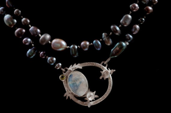 Image of Botanical Oregon Series: Pebble Stream Pearl Necklace
