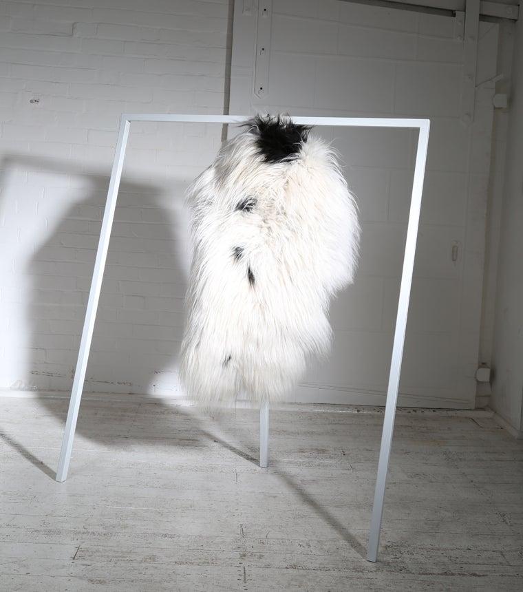 Image of SPOTTED ICELANDIC SHEEPSKIN
