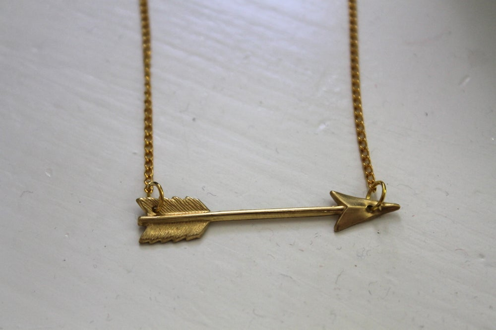 Image of Golden Arrow Necklace