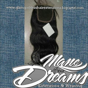 Image of 2.5x4 Virgin Brazilian Body Wave Lace Closure