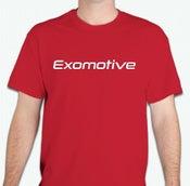 Image of Red Exomotive Logo T-Shirt