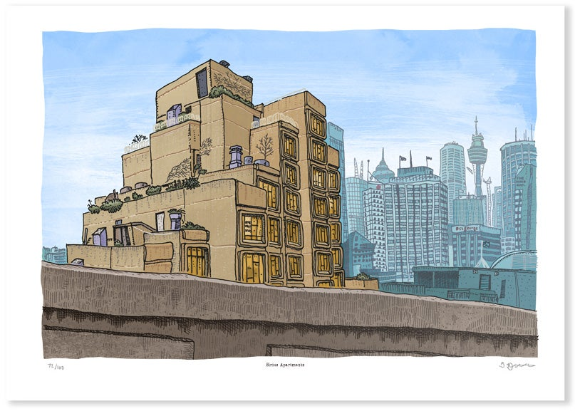 Newcastle Productions The Sirius Apartments Limited Edition Digital Print