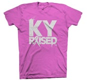 Image of LIMITED EDITION KY RAISED FEMALE BREAST CANCER AWARENESS TEES IN HOT PINK & WHITE