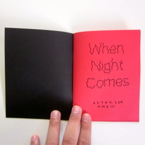 Image of When Night Comes Zine