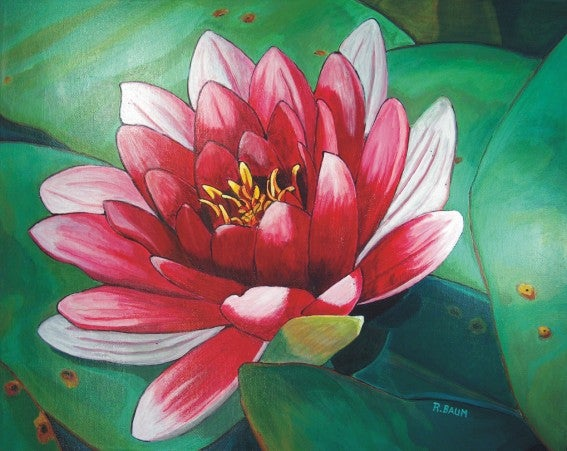 Image of Painting on Canvas: Lotus Flower