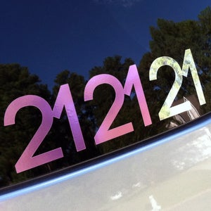 Image of 212121 Vinyl Decal Pink Chrome